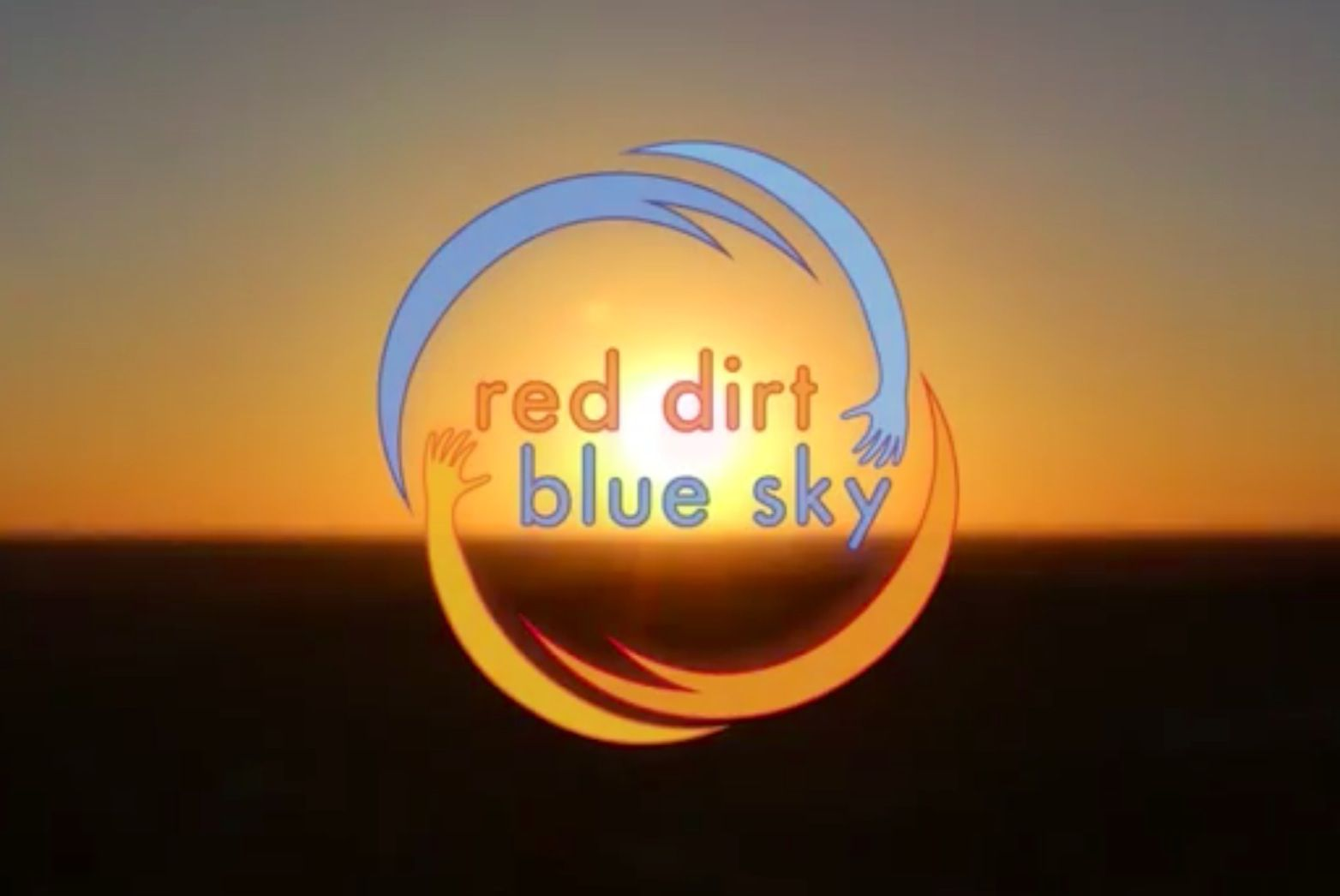 Red Dirt Blue Sky logo w sunset